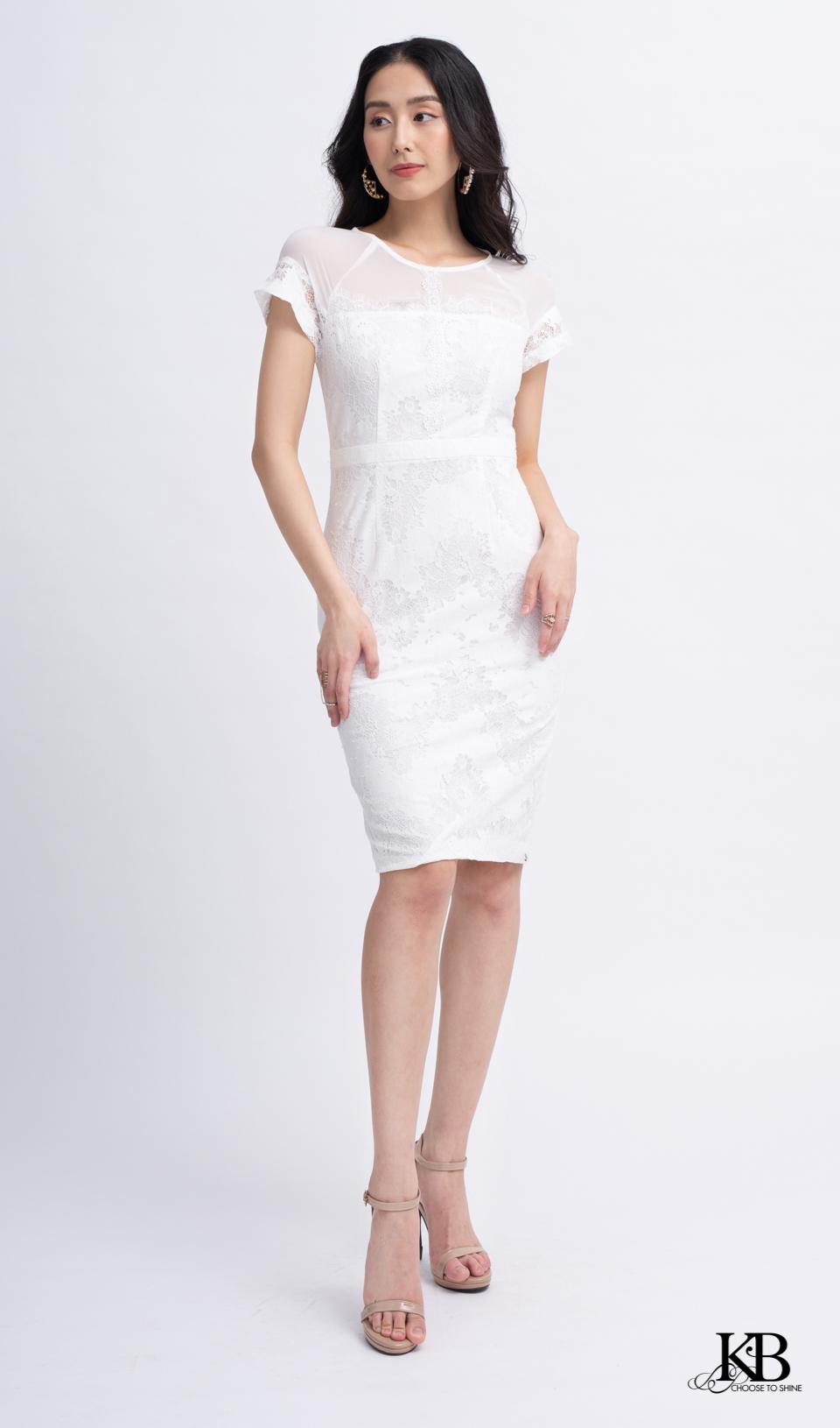 Đầm đai eo kẹp zen dây