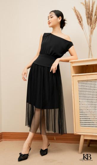 Đầm tà bênh eo